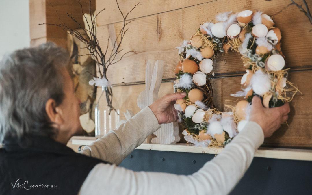 DIY – urob si sám – Veľkonočný veniec zo škrupín od vajíčok
