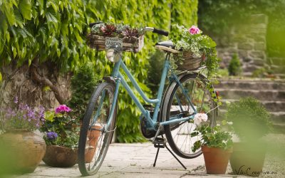 DIY – Bicykel ako záhradná dekorácia