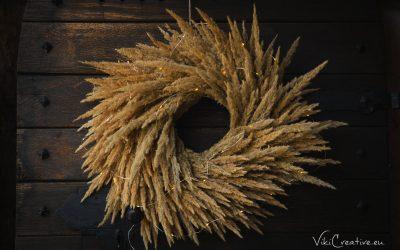 DIY – Návod na výrobu venca z trávy